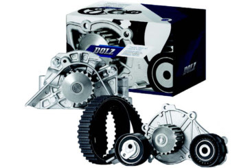 Water pumps and water pump and timing belt kits