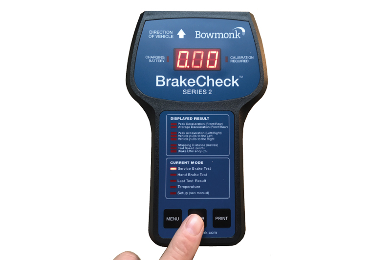 Bowmonk brake testing