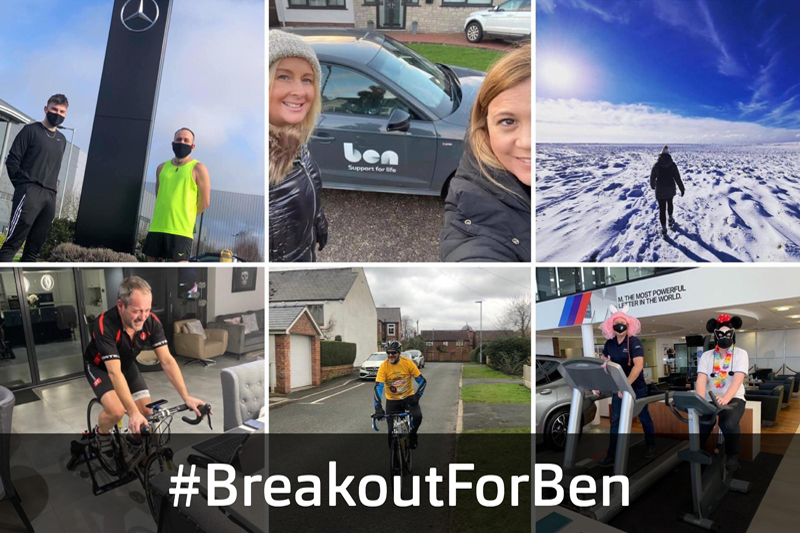 Ben reveals fundraising success